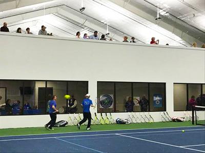 Inside of the new Lake Geneva Tennis facility