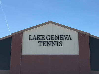 Lake Geneva Tennis Complex in Business Park